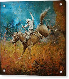 Rodeo 001 Acrylic Print by Corporate Art Task Force