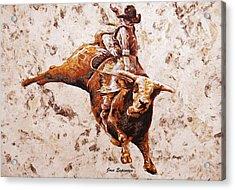 Rodeo 1 Acrylic Print by J- J- Espinoza
