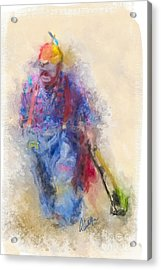Rodeo Clown Acrylic Print by Andrea Auletta