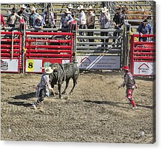 Rodeo Clowns At Work Acrylic Print