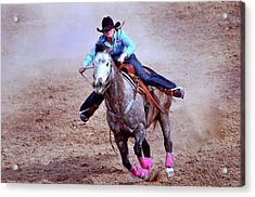Acrylic Print featuring the photograph Rodeo Cowgirl by Barbara Manis