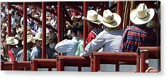 Acrylic Print featuring the photograph Rodeo Time Cowboys by Susan Garren