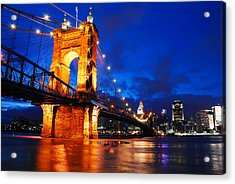 Roebling Bridge Cincinnati Acrylic Print