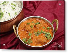 Rogan Josh In Kadai Bowl Acrylic Print by Paul Cowan