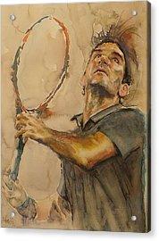 Roger Federer - Portrait 1 Acrylic Print