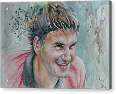 Roger Federer - Portrait 3 Acrylic Print