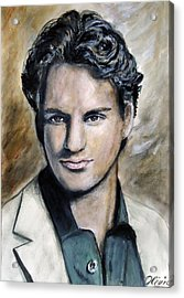 Roger Federer - Portrait Acrylic Print