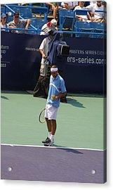 Roger Federer After 1st Slam Acrylic Print