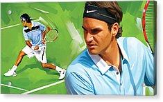 Roger Federer Artwork Acrylic Print