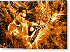 Roger Federer Clay Acrylic Print by RochVanh