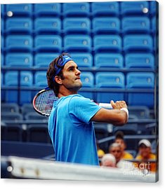 Roger Federer  Acrylic Print by Nishanth Gopinathan