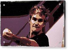 Roger Federer Poster Art Acrylic Print