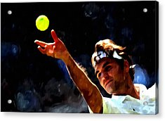 Roger Federer Tennis 1 Acrylic Print