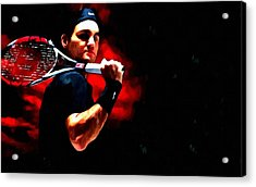 Roger Federer Tennis Acrylic Print