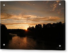 Rogue August Sunset Acrylic Print
