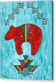 Rojo Oso Acrylic Print