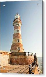 Roker Pier Lighthouse Acrylic Print