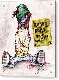 Rokon Chan The Zombie Acrylic Print
