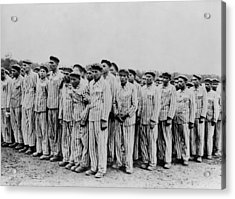 Roll Call At Buchenwald Concentration Acrylic Print by Everett
