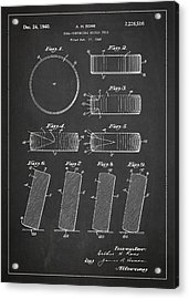 Roll Prevention Hockey Puck Patent Drawing From 1940 Acrylic Print