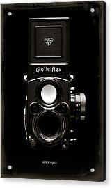 Rolleiflex Tlr Acrylic Print by Dave Bowman