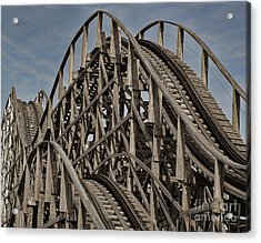 Roller Coaster Acrylic Print by Ron Roberts