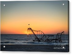 Roller Coaster Sunrise Acrylic Print by Michael Ver Sprill