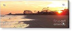 Roller Coaster Sunset Acrylic Print