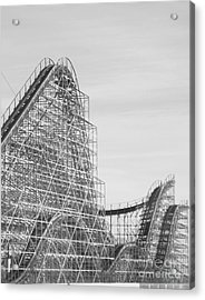 Roller Coaster Wildwood Acrylic Print by Eric  Schiabor