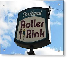 Roller Rink Acrylic Print by Michael Krek