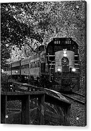 Rollin' Down The Tracks Acrylic Print by David Stine