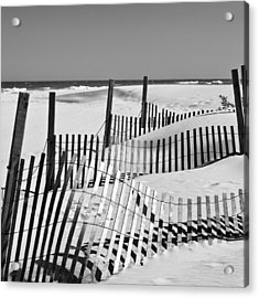 Rolling Fence Acrylic Print by Denis Lemay