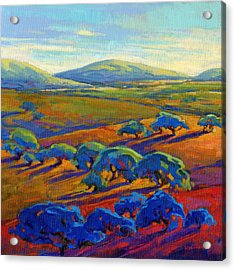 Acrylic Print featuring the painting Rolling Hills 2 by Konnie Kim