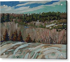 Rolling Hills Acrylic Print by Phil Chadwick
