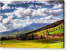 Acrylic Print featuring the photograph Rolling Hills Of Tuscany by Polly Peacock