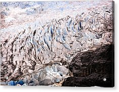 Acrylic Print featuring the photograph Rolling Ice Peaks by Davina Washington