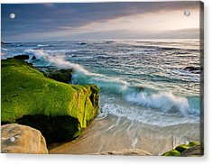 Rolling In Acrylic Print by Peter Tellone