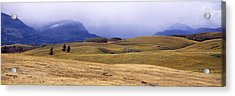 Rolling Landscape With Mountains Acrylic Print by Panoramic Images