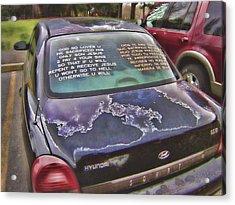 Rolling Multilingual Scripture Acrylic Print by Daniel Hagerman