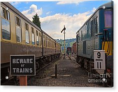 Rolling Stock Of The Gloucestershire Warwickshire Railway Acrylic Print by Louise Heusinkveld