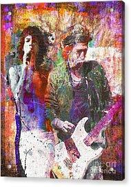 Rolling Stones Acrylic Print by David Plastik