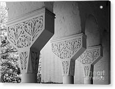 Rollins College Arcade Detail Acrylic Print by University Icons