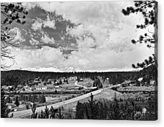 Rollinsville Colorado Small Town 181 In Black And White Acrylic Print