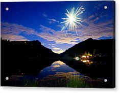 Rollinsville Yacht Club Fireworks Private Show 52 Acrylic Print by James BO  Insogna