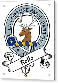 Rollo Clan Badge Acrylic Print by Heraldry
