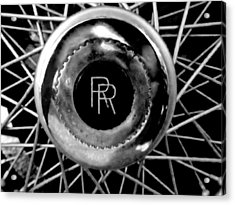 Rolls Royce - Black And White Acrylic Print