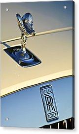 Rolls-royce Hood Ornament 3 Acrylic Print by Jill Reger