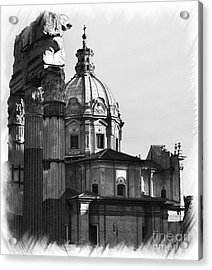 Roma Black And White Acrylic Print by Stefano Senise
