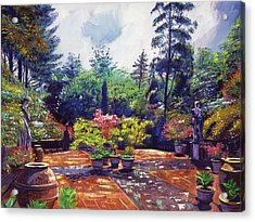Roma Garden Acrylic Print by David Lloyd Glover