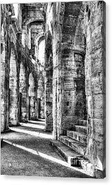 Roman Arena At Arles Bw Acrylic Print by Mel Steinhauer